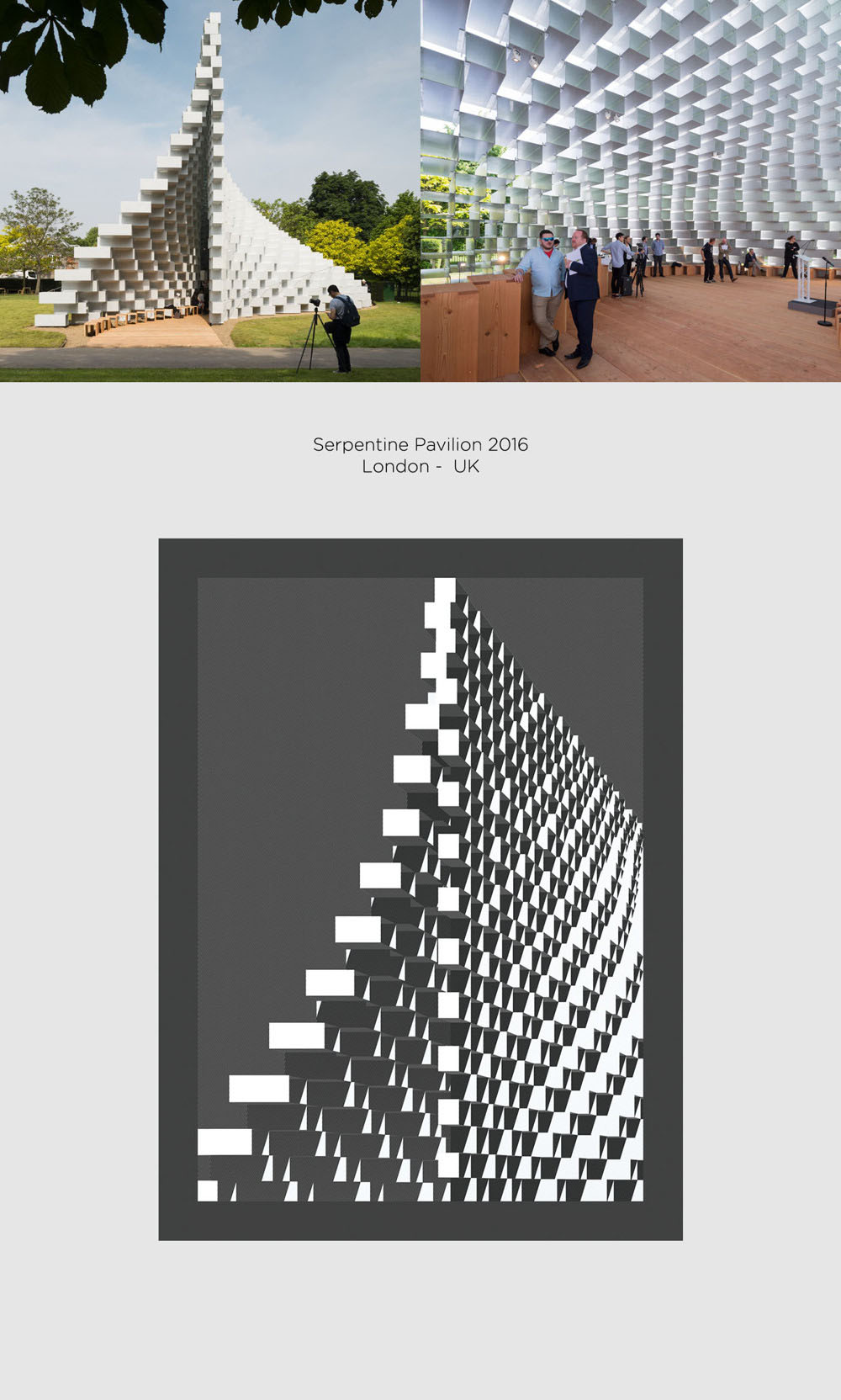 Serpentine Pavilion by Bjarke Ingles Group (BIG) poster