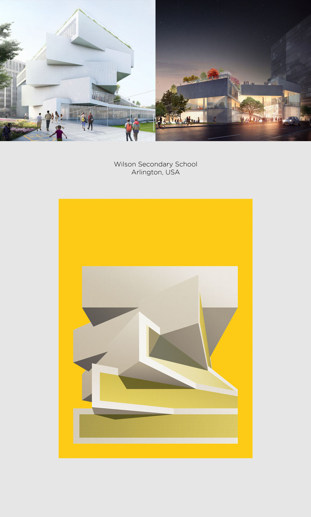 Wilson Secondary School by Bjarke Ingles Group (BIG) poster