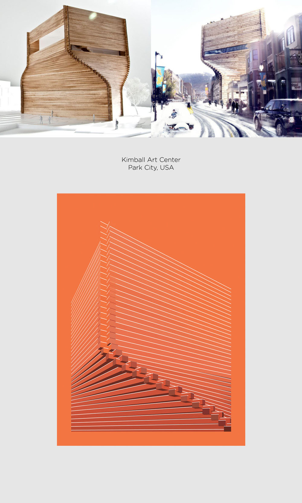 Kimball Art Center by Bjarke Ingles Group (BIG) poster